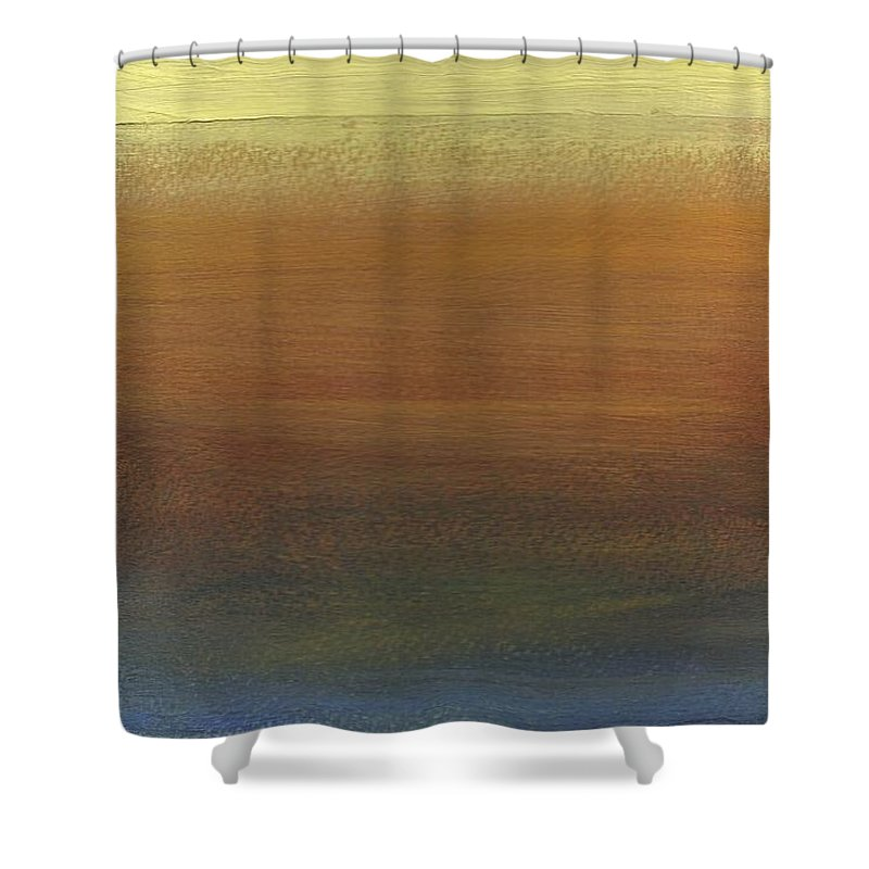 Abstract Shower Curtain featuring the painting Across The Water by David Weigham