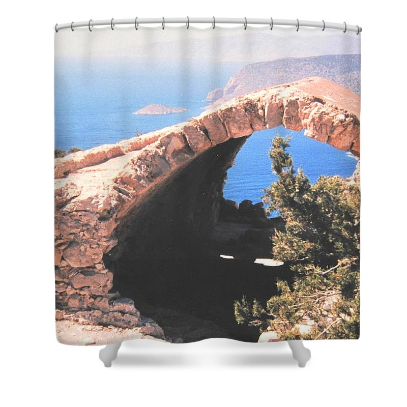 Greece Shower Curtain featuring the photograph Across To Turkey by Ian MacDonald