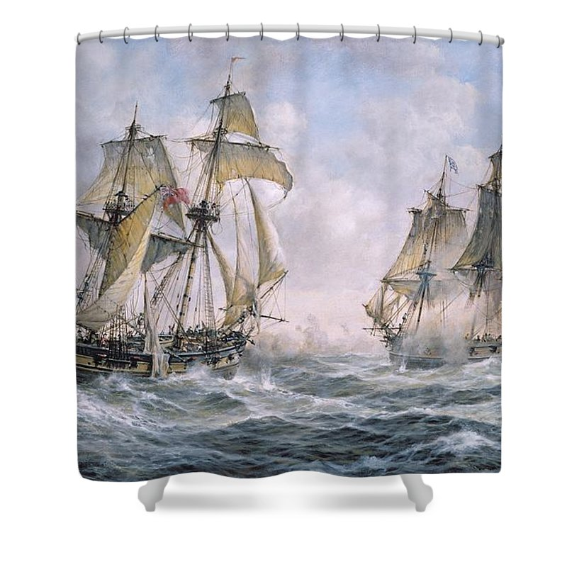 Great Britain Paintings Shower Curtains