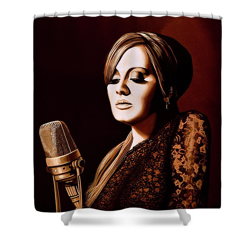 Adele Skyfall Gold Shower Curtain