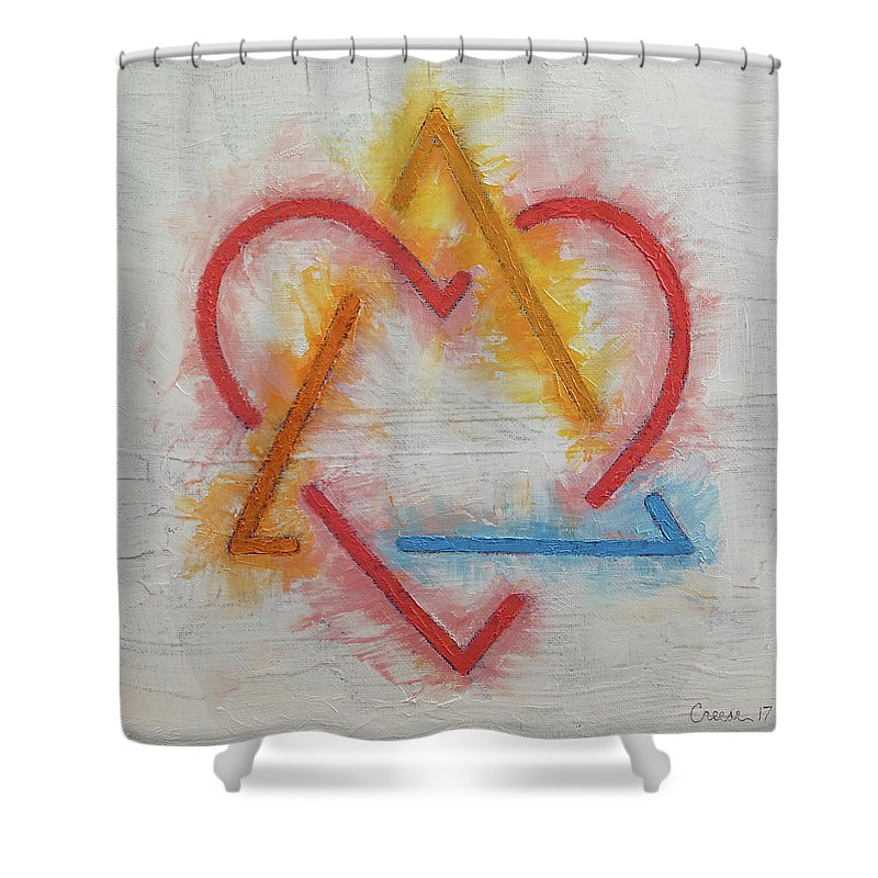 Adoption Symbol Shower Curtain featuring the painting Adoption Symbol by Michael Creese
