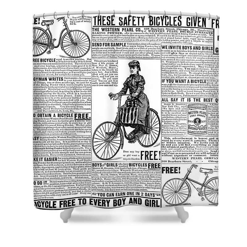 1891 Shower Curtain featuring the photograph Advertisement, 1891 by Granger