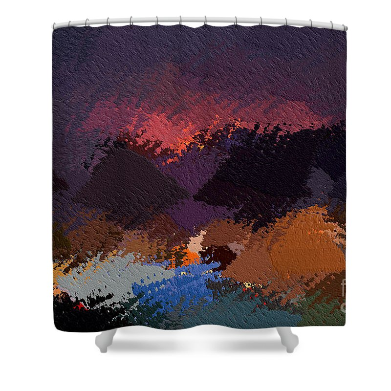 Art Shower Curtain featuring the photograph African Landscapes by Morris Keyonzo