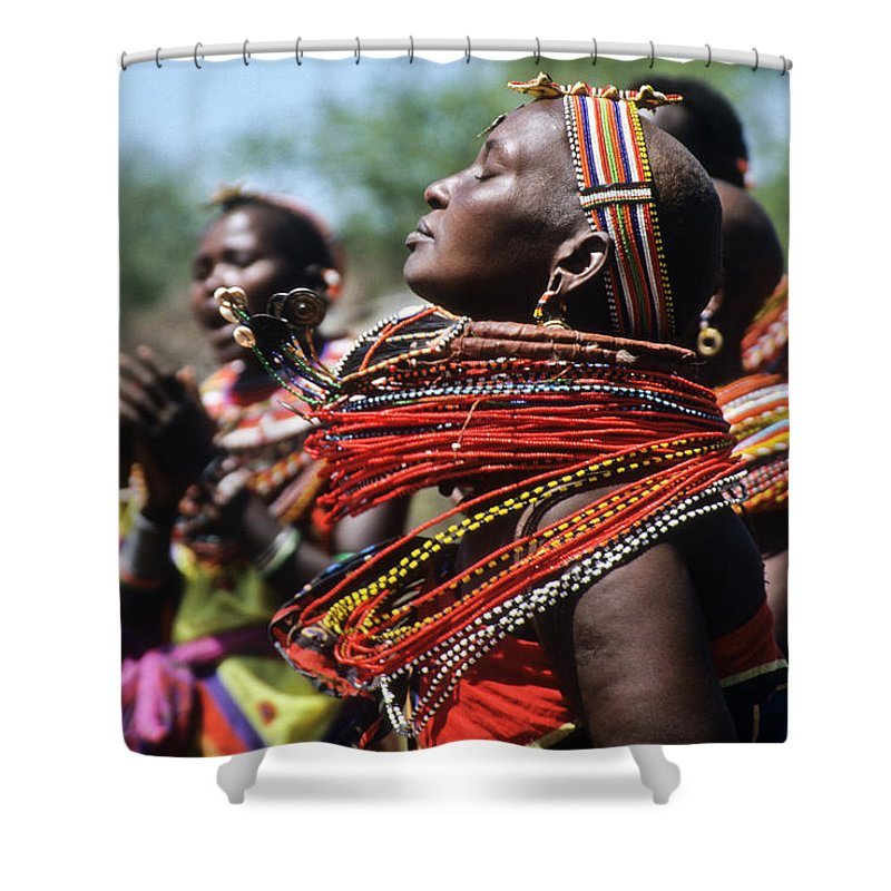 Africa Shower Curtain featuring the photograph African Rhythm by Michele Burgess