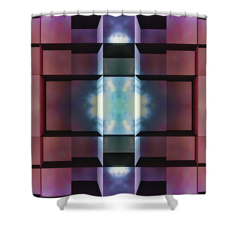 Abstract Shower Curtain featuring the digital art After All by Wendy J St Christopher