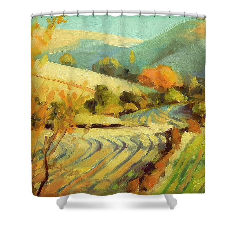Plowing Paintings Shower Curtains