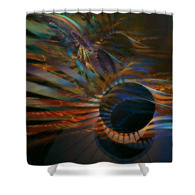 Abstract Shower Curtain featuring the digital art After Hours by NirvanaBlues