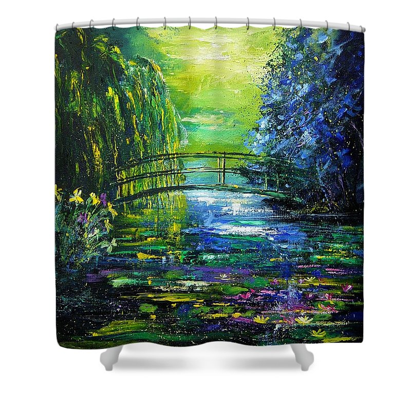 Pond Shower Curtain featuring the painting After Monet by Pol Ledent