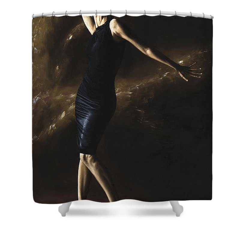 Dance Shower Curtain featuring the painting After The Dance by Richard Young