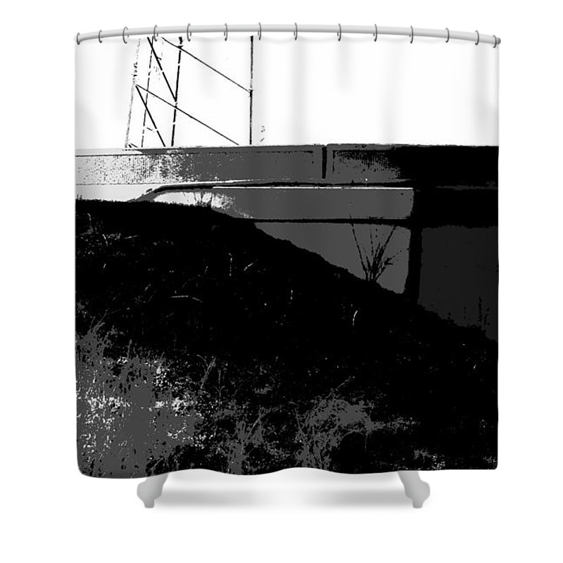 After The Fire Shower Curtain featuring the photograph After The Fire by Ed Smith