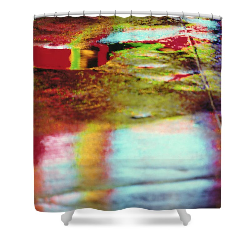 Abstract Shower Curtain featuring the photograph After The Rain Abstract 2 by Tony Cordoza