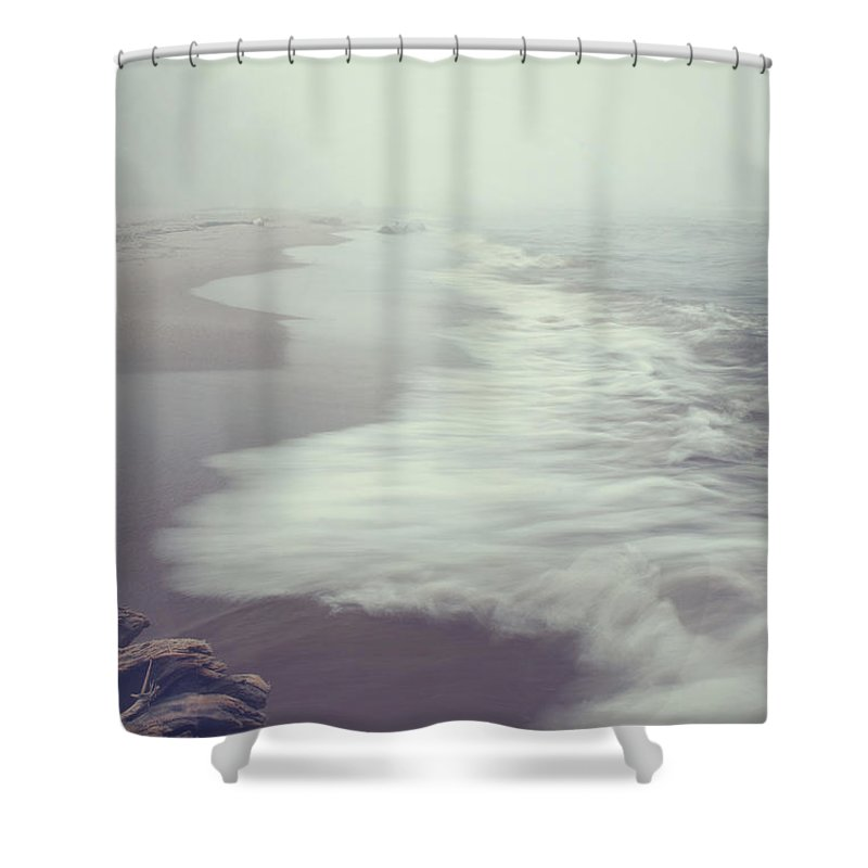 Calm Shower Curtain featuring the photograph After The Storm by Angela King-Jones