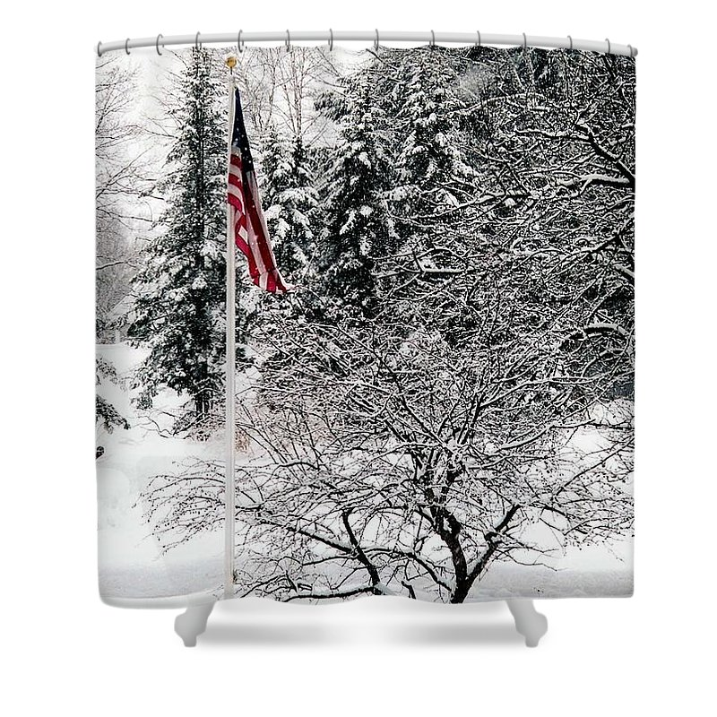 America Shower Curtain featuring the photograph After The Storm by John Scates