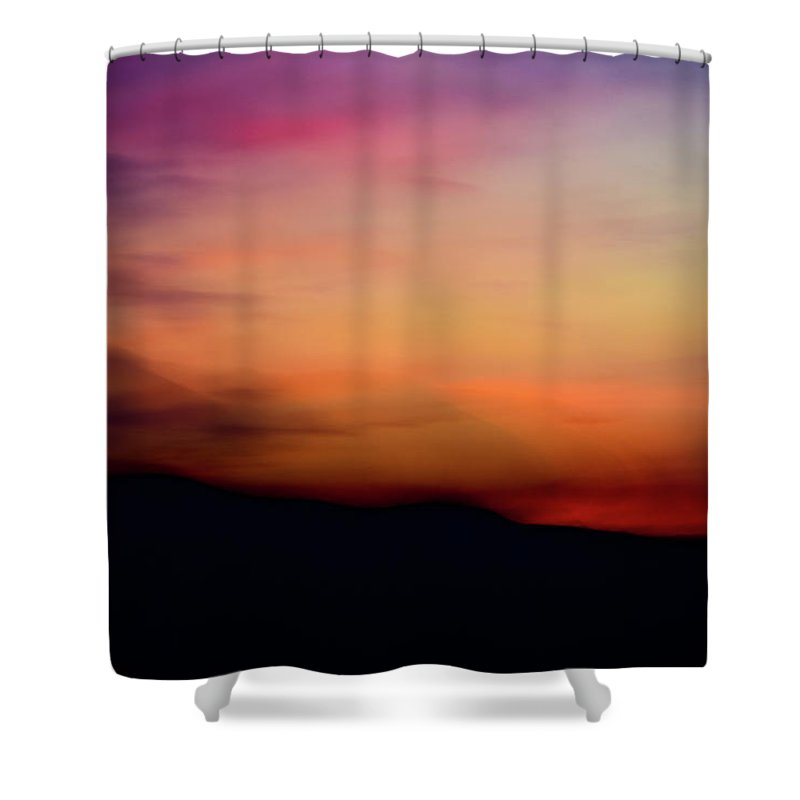Long Exposure Photography Shower Curtain featuring the photograph Afterglow by Olivia StClaire