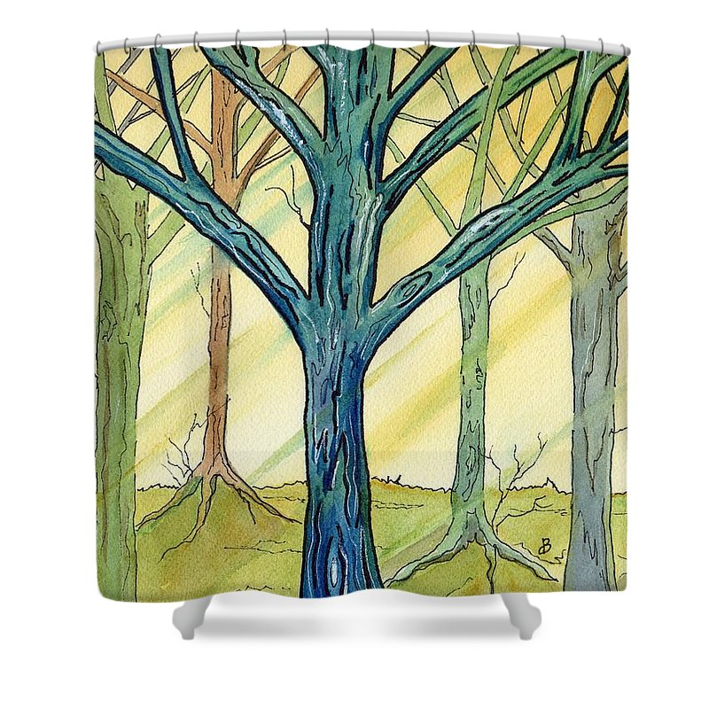 Watercolor Shower Curtain featuring the painting Afternoon Light by Brenda Owen