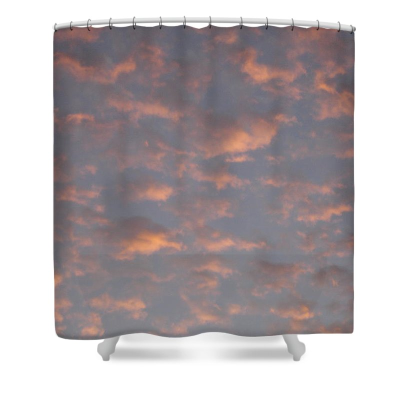 Skyscape Shower Curtain featuring the painting Afternoon Sky 11 by Roger Cummiskey