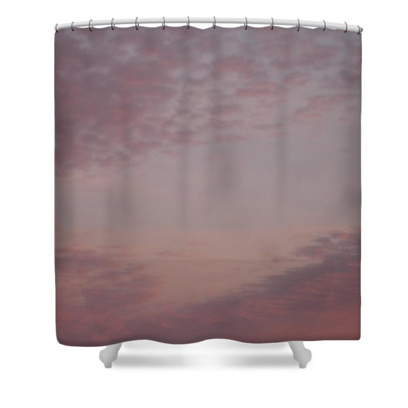 Skyscape Shower Curtain featuring the painting Afternoon Sky by Roger Cummiskey