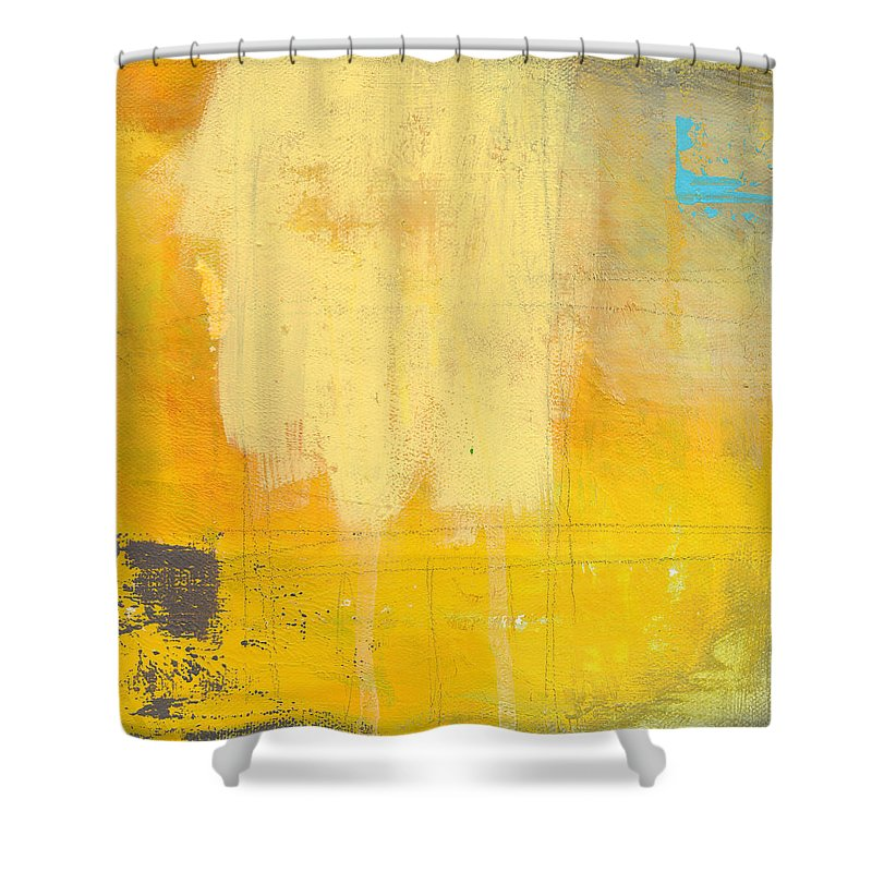 Abstract Shower Curtain featuring the painting Afternoon Sun -large by Linda Woods