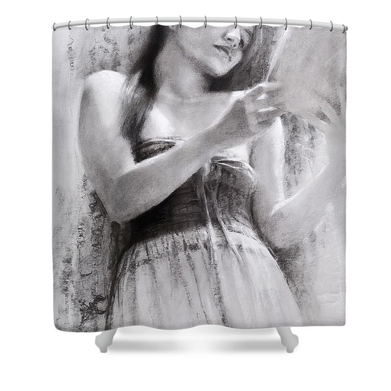 Grass Drawings Shower Curtains