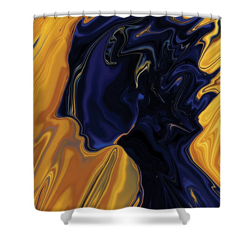 Abstract Shower Curtain featuring the digital art Against The Wind by Rabi Khan