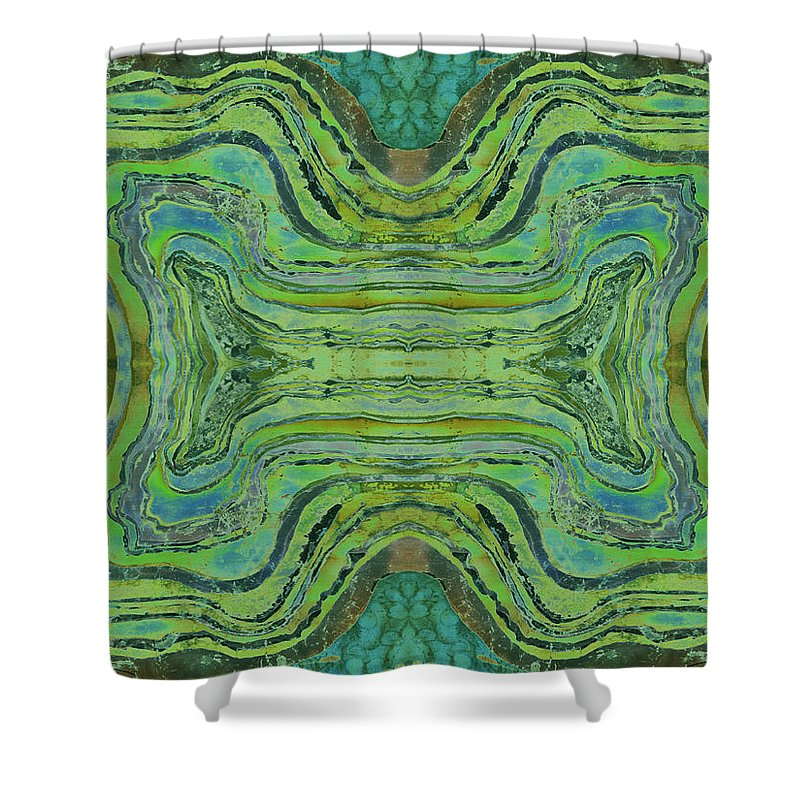 Agates Shower Curtain featuring the tapestry - textile Agate Inspiration - 24 B by Sue Duda