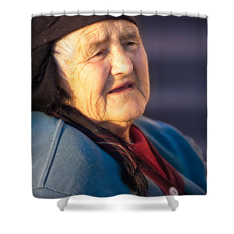 Old Shower Curtain featuring the photograph Age by Gabriela Insuratelu