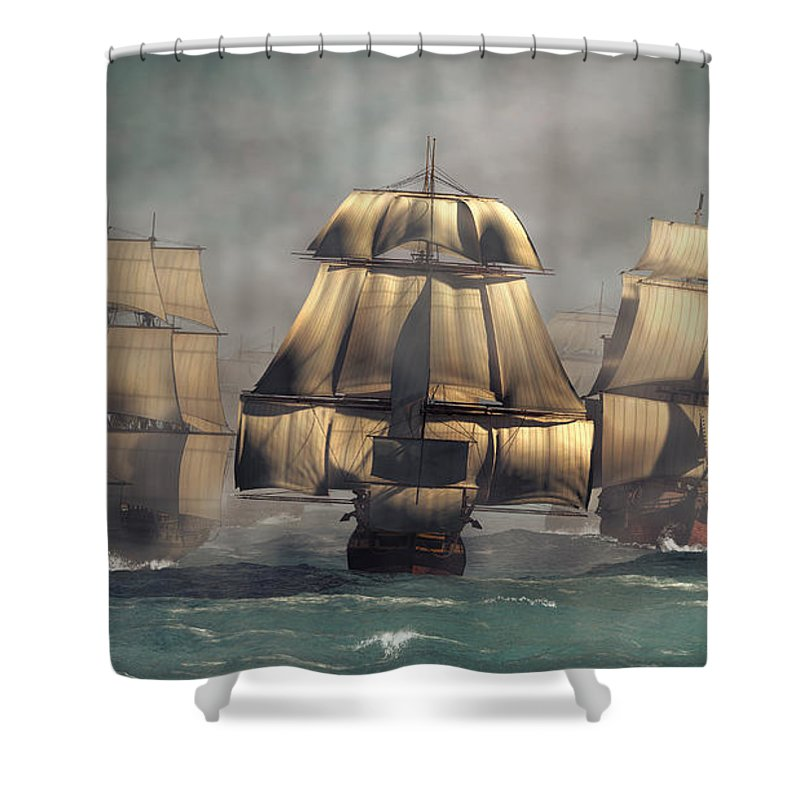 Age Of Sail Shower Curtain Featuring The Digital Art By Daniel Eskridge