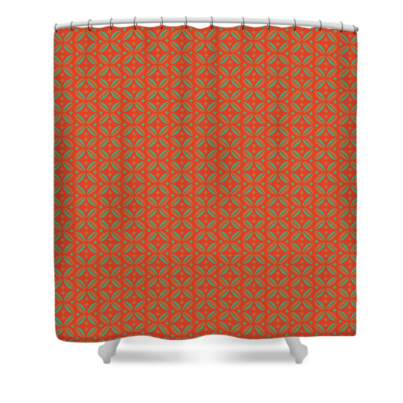 Orange Shower Curtain featuring the digital art Agony II by Natalie Bollinger