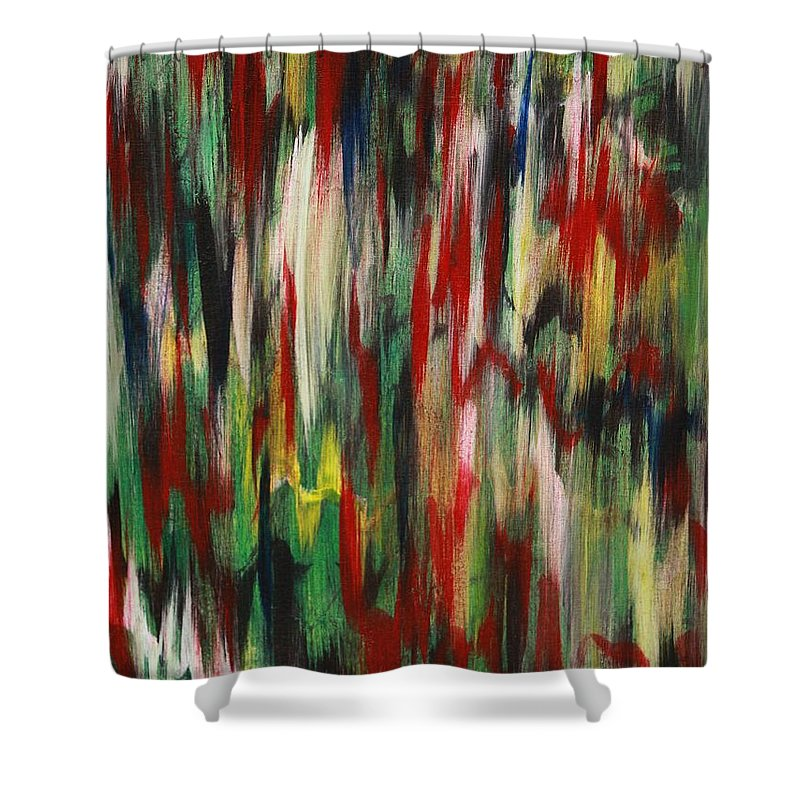 Abstract Shower Curtain featuring the painting Agony by Jacqueline Athmann