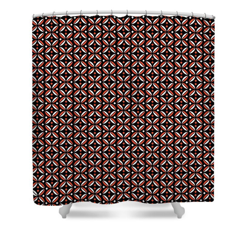 Red Shower Curtain featuring the digital art Agony by Natalie Bollinger