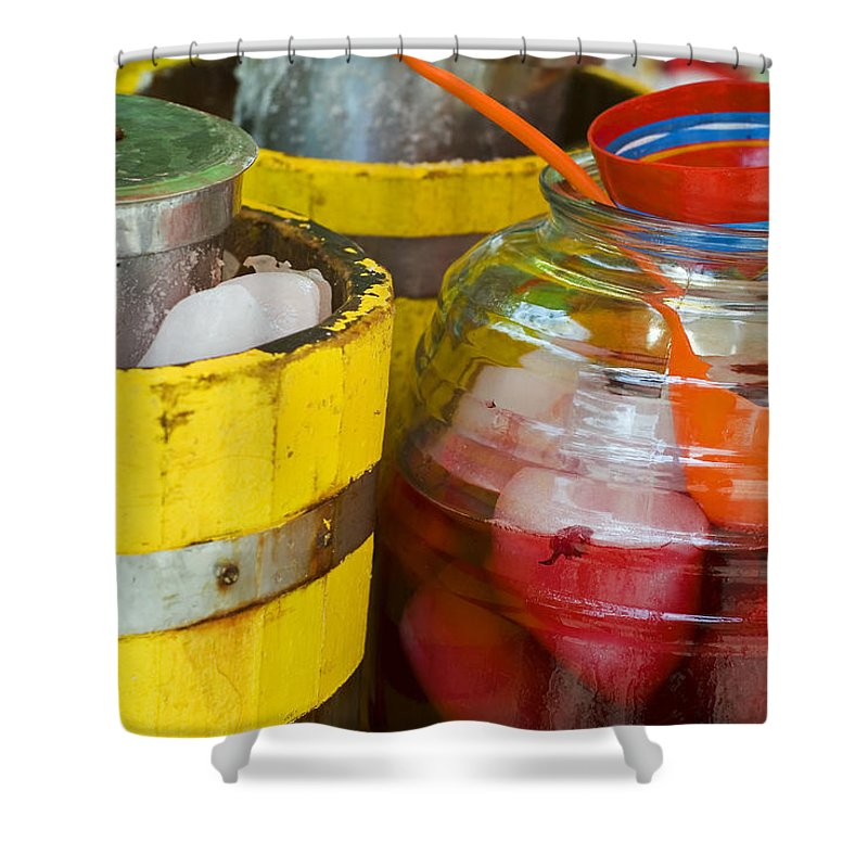 Beverage Shower Curtain featuring the photograph Agua De Hamaica by Skip Hunt