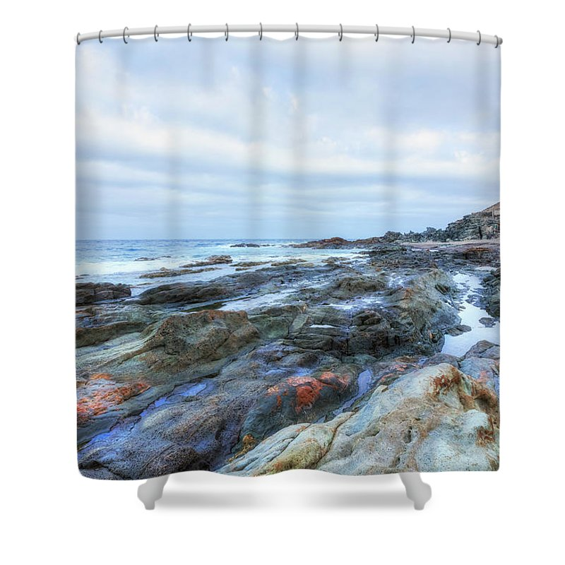 Playa Aguas Verdes Shower Curtain featuring the photograph Aguas Verdes - Fuerteventura by Joana Kruse