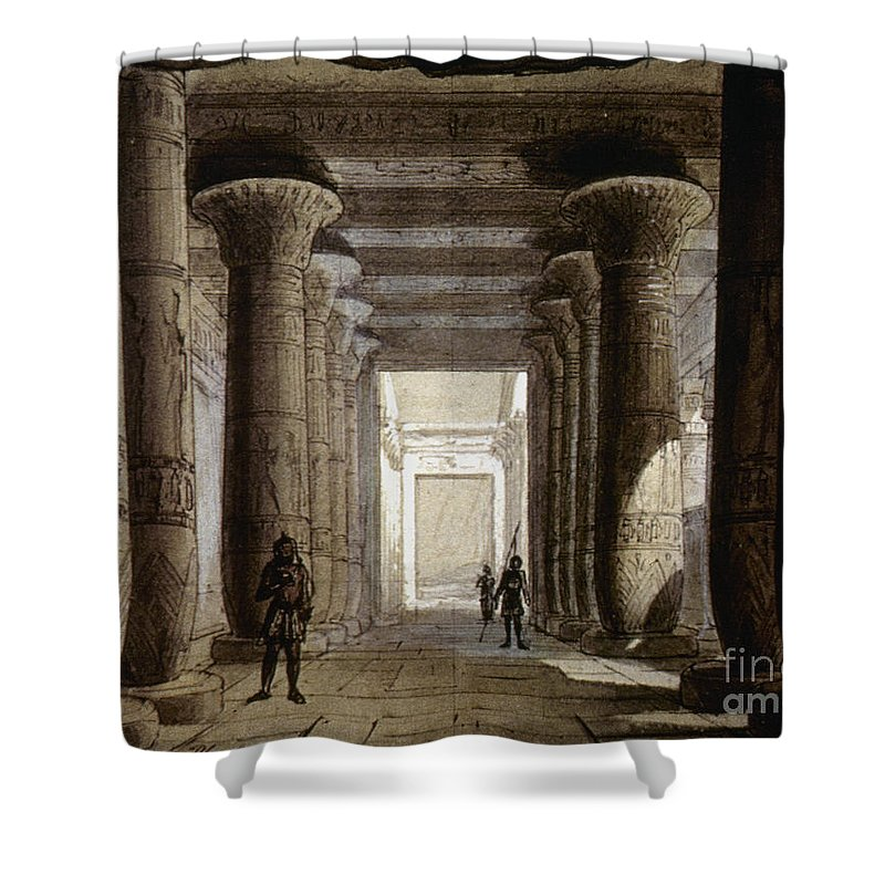 1871 Shower Curtain featuring the photograph Aida Set, 1871 by Granger