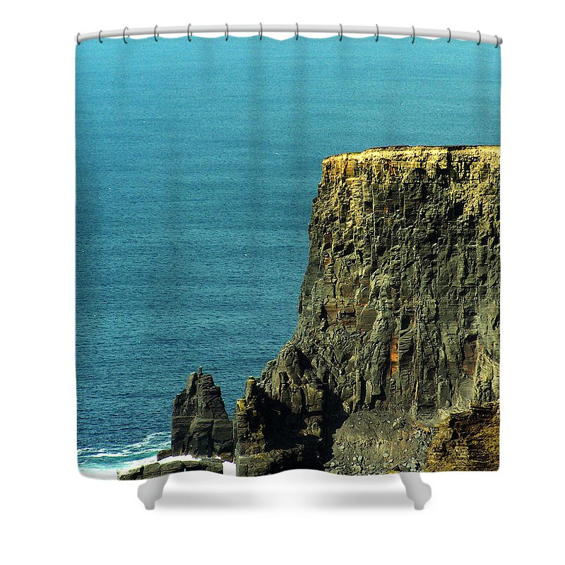 Irish Shower Curtain featuring the photograph Aill Na Searrach Cliffs Of Moher Ireland by Teresa Mucha