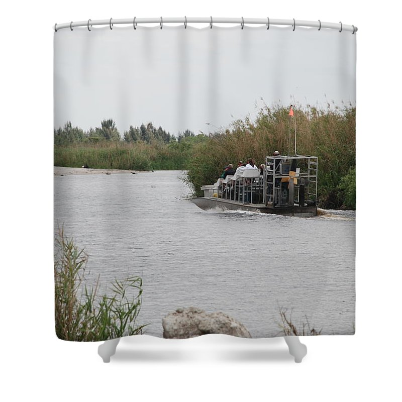 Everglades Shower Curtain featuring the photograph Airboat Rides 25 Cents by Rob Hans