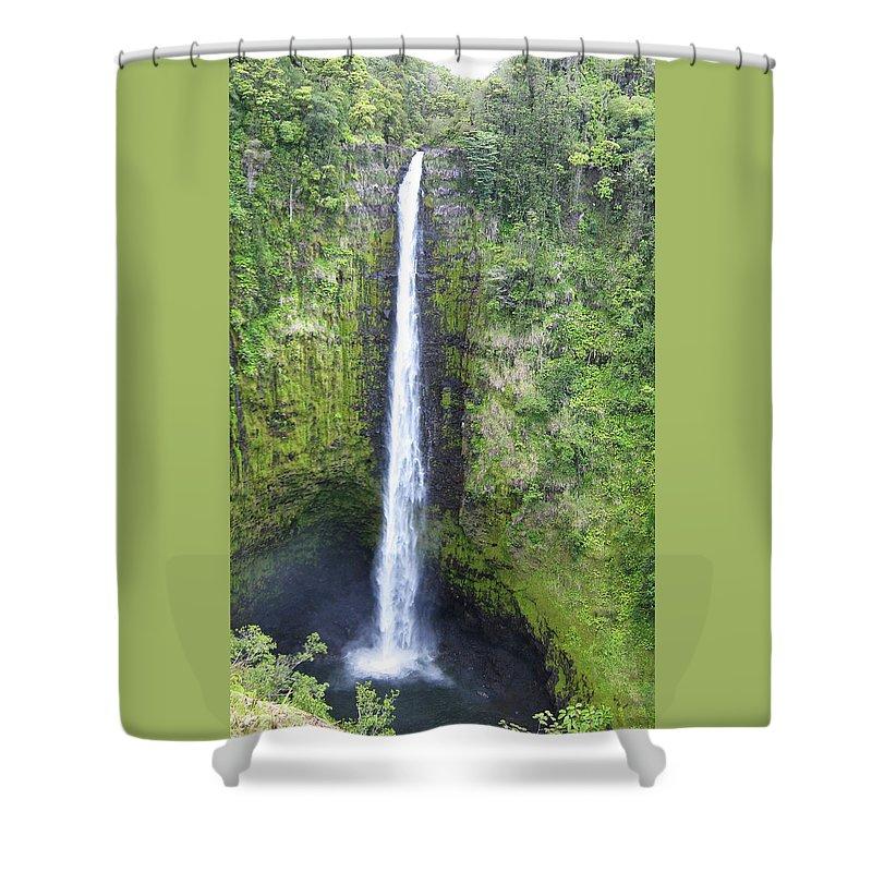 Landscape Shower Curtain featuring the photograph Akaka Falls by Kerri Ligatich