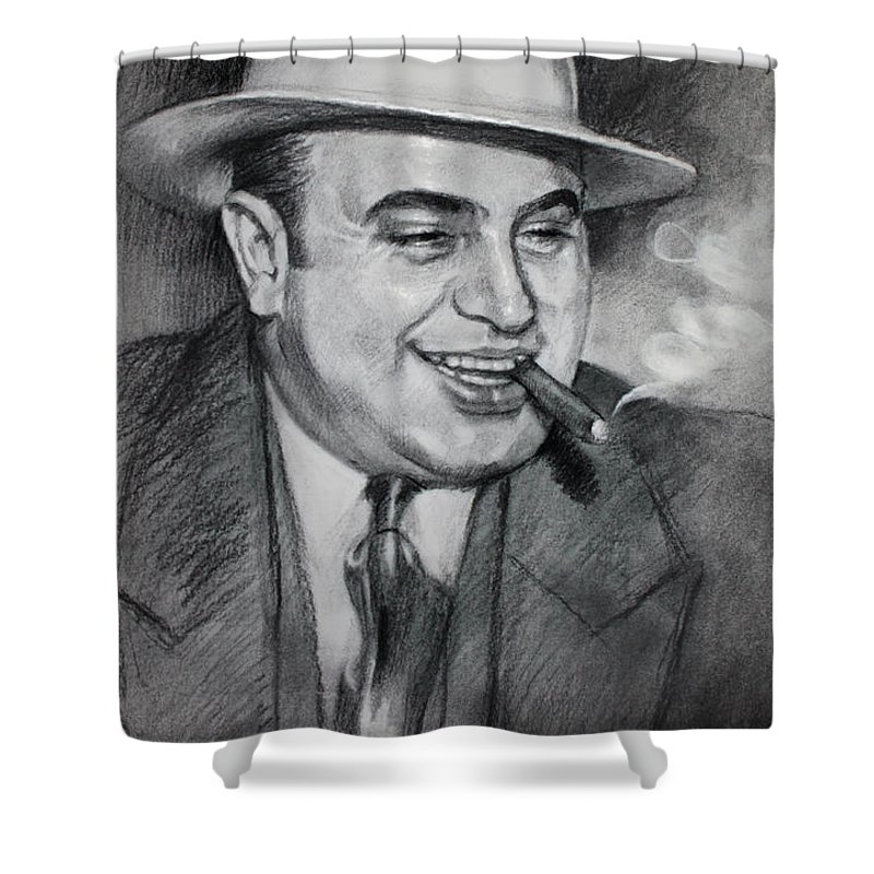 Charcoal Drawing Shower Curtains