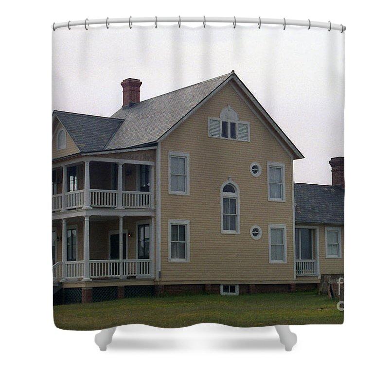 Alabama Shower Curtain featuring the digital art Alabama Coastal Home by Richard Rizzo