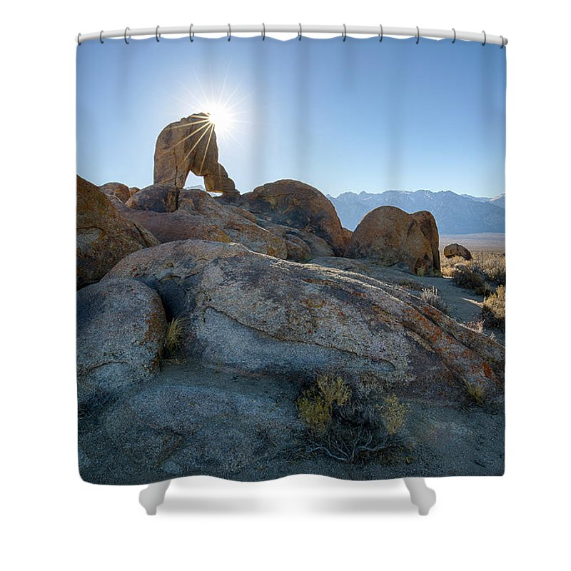 Alabama Hills Shower Curtain featuring the photograph Alabama Hills Arch by Idaho Scenic Images Linda Lantzy