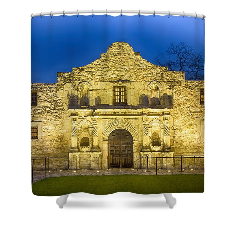 Alamo Shower Curtain featuring the photograph Alamo Dawn by Stephen Stookey