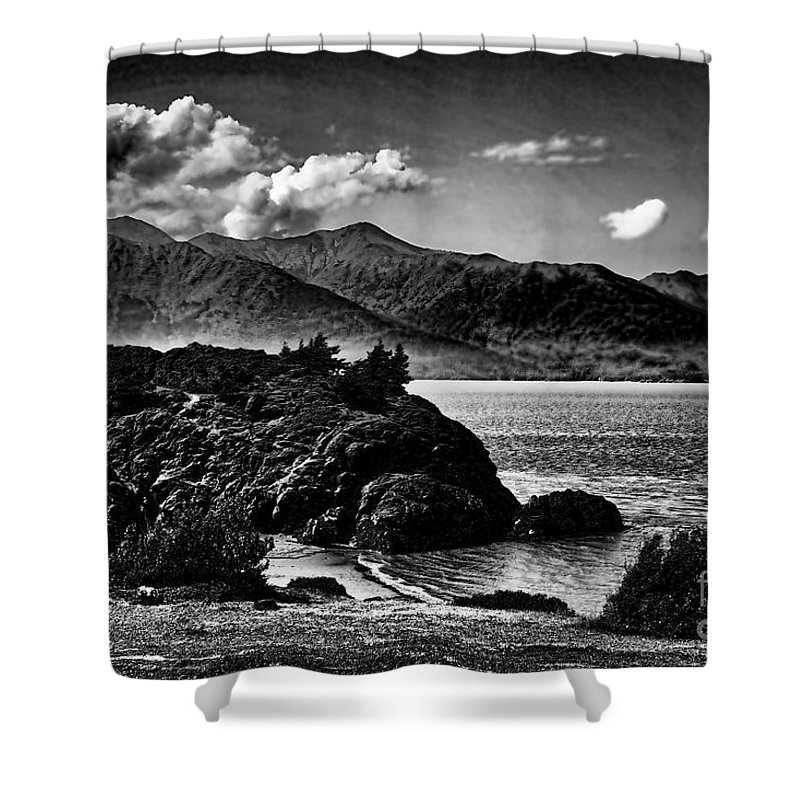 Alaska Shower Curtain featuring the photograph Alaska Bw Grain by Chuck Kuhn