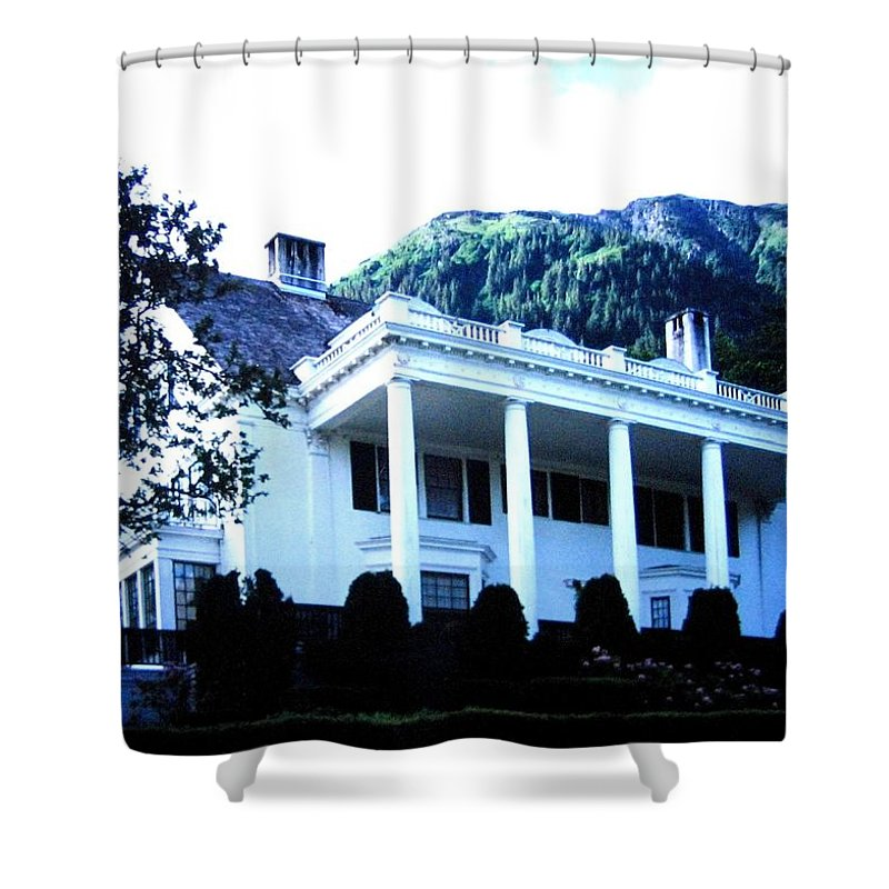 Alaska Shower Curtain featuring the photograph Alaska Governors Mansion by Will Borden