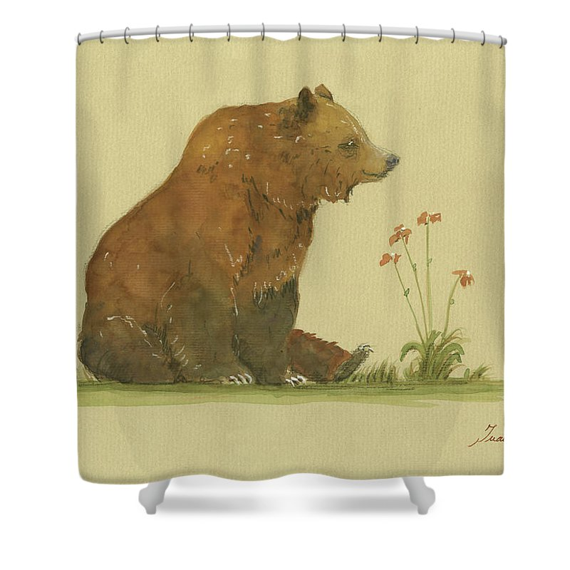 Grizzly Bear Shower Curtains