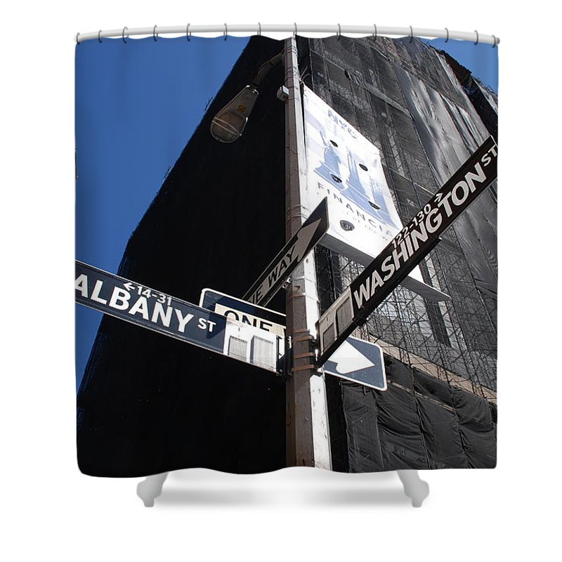 Architecture Shower Curtain featuring the photograph Albany And Washington by Rob Hans