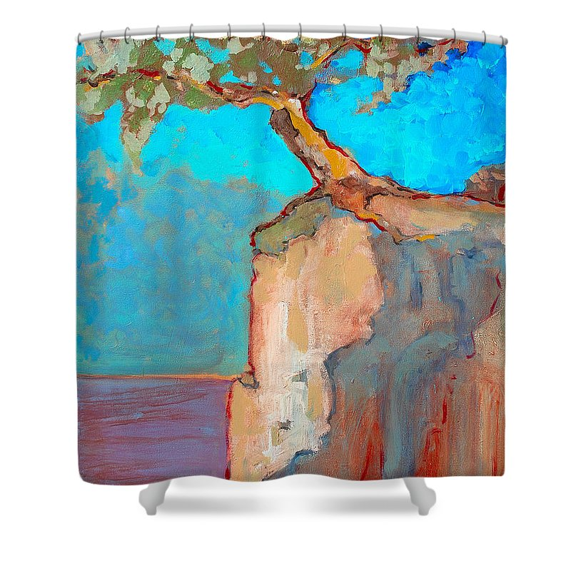 Tree Shower Curtain featuring the painting Albero by Kurt Hausmann