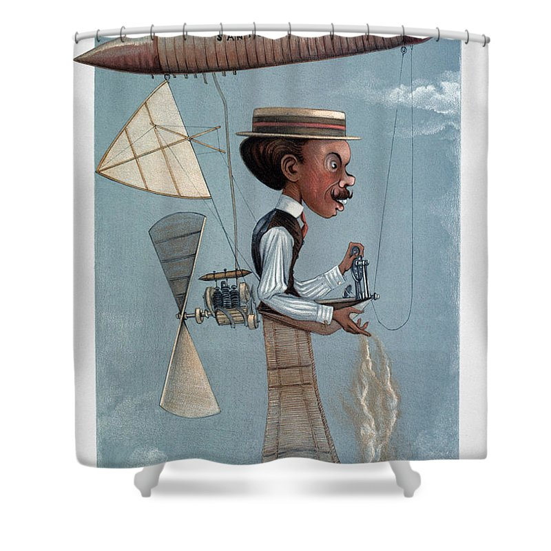 1901 Shower Curtain featuring the photograph Alberto Santos-dumont by Granger