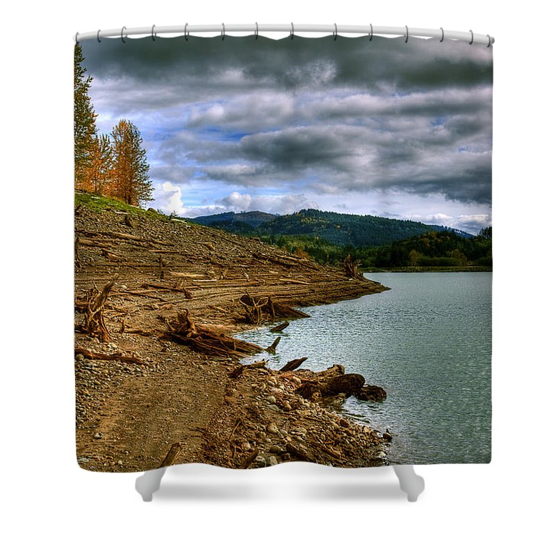 Photo Shower Curtain featuring the photograph Alder Lake by David Patterson