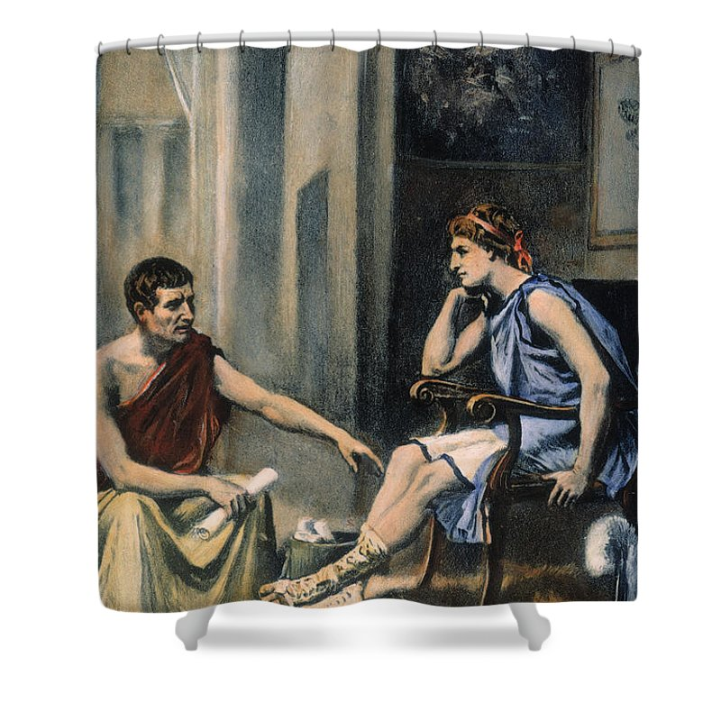 4th Century B.c. Shower Curtain featuring the photograph Alexander & Aristotle by Granger