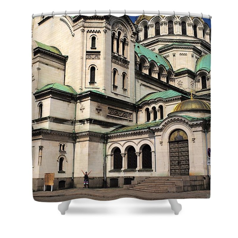 Sofia Shower Curtain featuring the photograph Alexander Nevsky Cathedral by Piotr Kuzniar