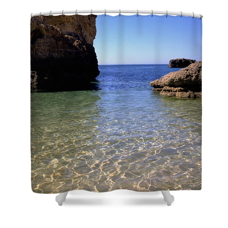 Algarve Shower Curtain featuring the photograph Algarve I by Flavia Westerwelle